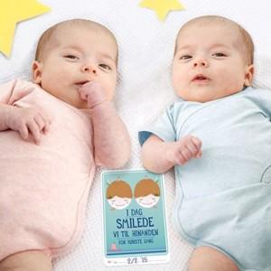 milepælekort tvillinger