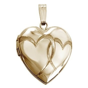 personligt smykke til hende medaljon med hjerter