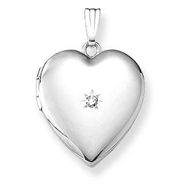 personligt smykke til hende sølv medaljon hjerte