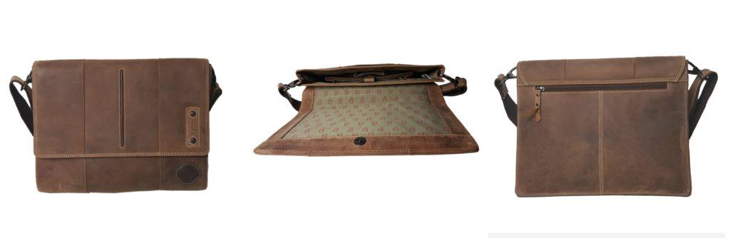 feminin computertaske i skin brun skuldertaske til laptop enkel computertaske i skind
