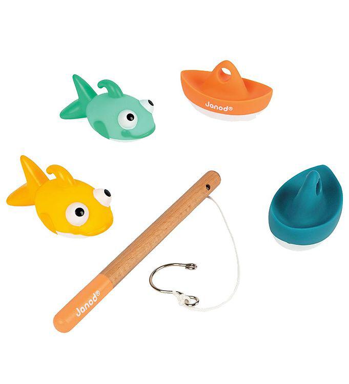 fiskestang til leg i badet fang fisk i badekaret badelegetøj gaveinspiration 2 årig ønskeseddel