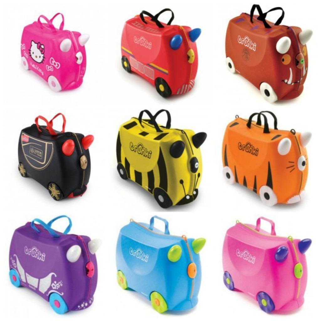 børnekuffert kuffert til de mindste kuffert til barn kuffert til børn trunki kuffert børnekuffert med hjul kuffert man kan sidde på alletidersgave gave til børn gave til barn 4 år