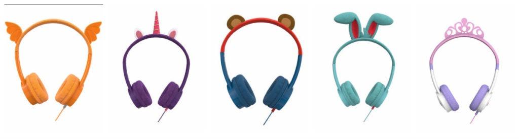 høretelefoner til børn enhjørning headset til børn enhjørning høretelefoner til børn lilla høretelefoner til børn little rockerz hørebøffer unicorm høretelefoner prinsesse