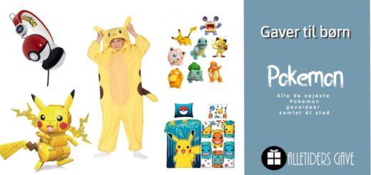 pokemon gaveideer til børn, pokemon gaveideer til drenge, pokemon gaveideer til piger, pokemon gaver til børn, pokemon bamser til børn, pokemon legetøj, pokemon høretelefoner til børn, pokemon bælte, pokemon kostume til børn