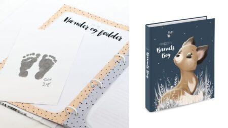 barnets bog dåbsgave barnedåb gave gave til gudbarn gave til barnedåb bog om barnet scrapbog baby navngivningsgave
