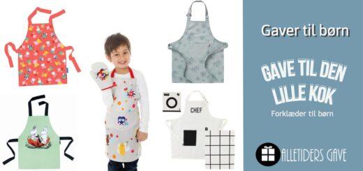 forklæde til børn, forklæder til børn, børneforklæder, børneforklæder, børn i køkkenet, forklædesæt børn, køkkensæt børn, alletiders gave, gave til den lille kok,