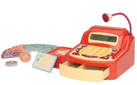 kasseapperat legetøj gave 3 år gammel drang