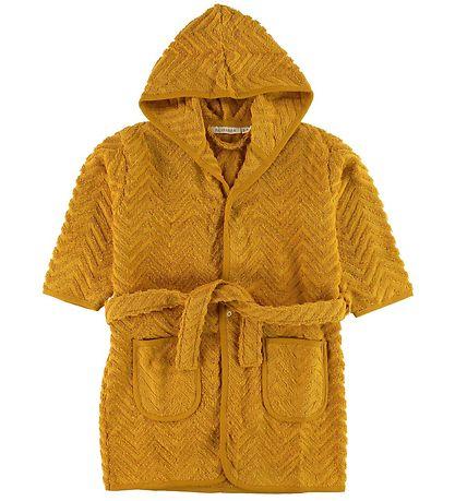 sennupsgul badekåbe til piger gul badekåbe til børn gave til 2 årig pige