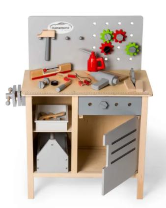 værkstedsbænk træ legetøj 3 årige gave