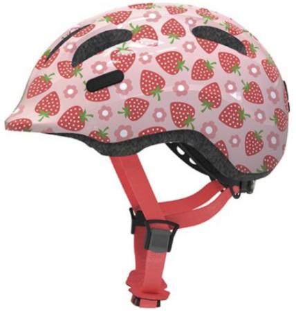 abus cykelhjelm gave til 3 år pige cykelhjelm med jordbær lyserød cykelhjelm