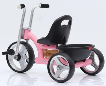 cykel 3 årig pige trehjulet cykel med cykelkurv lyserød cykel 3 år tricykel