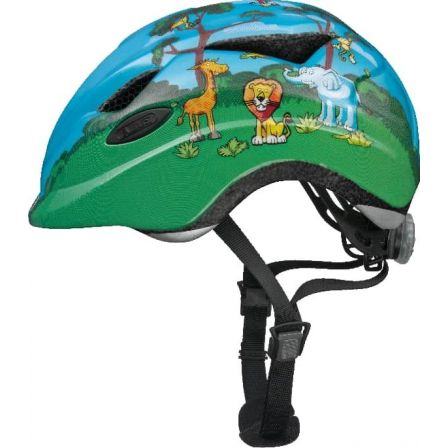 green-jungle-anuky-hjelm-fra-abus cykelhjelm 4 årig cykelhjelm grøn dreng