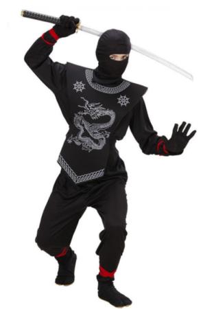 ninja kostume til 4 årig