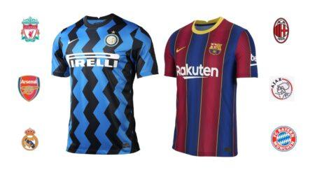 fodboldtrøje klub fodbold barcelona trøje inter spillertrøje klubhold t-shirt fodlboldtrøje