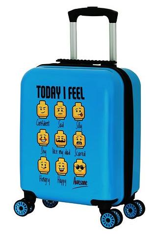 lego kuffert today I feel børnekuffert minifigures børnekuffert blå børnekuffert blå kuffert til drenge alletidersgave lego rejseartikler