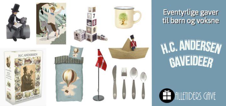 H.C. Andersen gaveideer til børn og voksne, H.C. Andersen dåbsgaver, H.C. Andersen børnegaver, H.C. Andersen voksengaver, H.C. Andersen julepynt, H.C. andersen klassiske gaver til børn og voksne
